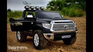 RC Ride on Toyota Tundra Toddler Truck with rubber tires and Upgrades