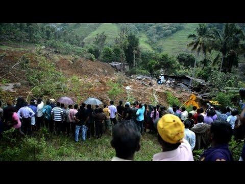 100 enterrados vivos por alud en Sri Lanka