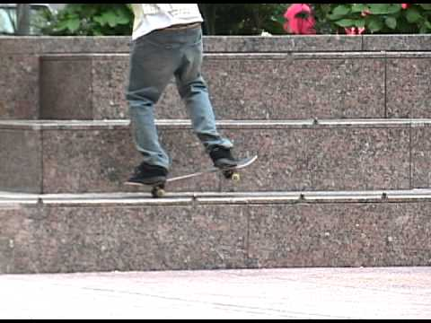 Rent a Cop - Marks a skateboard trick right on cue - ( not fake )
