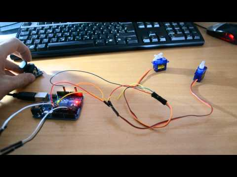 Snip2Code - Arduino - Joystick controlling 2 Servos