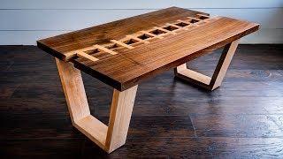 """Live Edge River """"Zipper"""" Table   Woodworking How-To"""