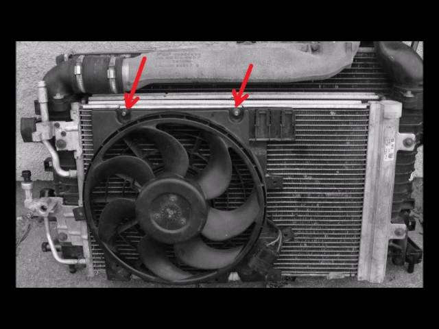 How to remove/replace AC condenser, radiator Opel Zafira ...