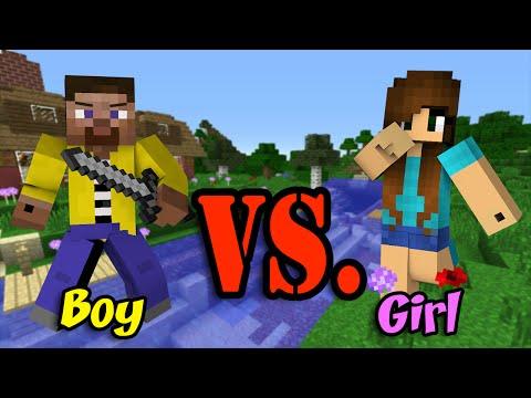 Girl Vs. Boy - Minecraft
