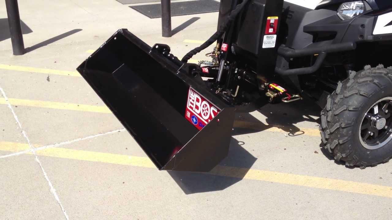 Polaris Utv 3 Point Hitch : Polaris ranger boss lift carry system with dump bucket