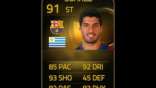 FIFA 15 IF SUAREZ 91 Player Review & In Game Stats Ultimate Team