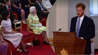 MEGHAN & THE QUEEN Watch PRINCE HARRY FULL SPEECH - Queen's Young Leaders Awards 2018