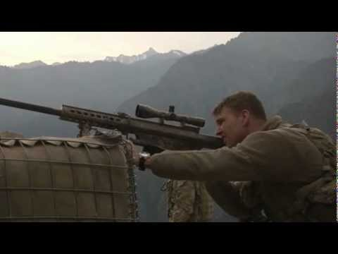 Army Sniper at Outpost Mace in Nuristan, Afghanistan - Barrett Rifle