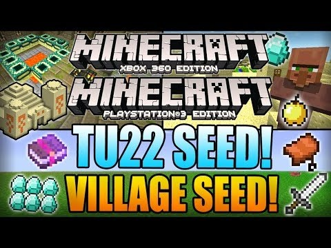 Minecraft Xbox 360 TU22 Seeds: 5 VILLAGES, 9 DIAMONDS, STRONGHOLD, DUNGEON! (Xbox 360/PS3 Seed)