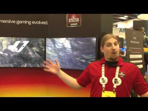 AMD show off 5-screen EyeFinity setup at GDC 2013