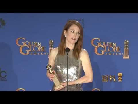 Julianne Moore Golden Globes 2015 Press Room Interview