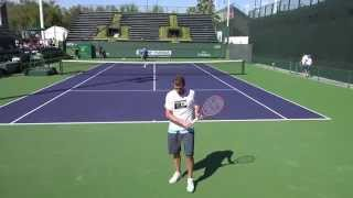 03 07 2015 Mardy Fish practice with Jack Sock at Indian Wells 4K UHD