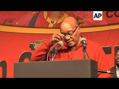 President Zuma tells unions that the miners' strike has cost SA dearly