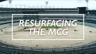 MCG Resurfacing Timelapse Video