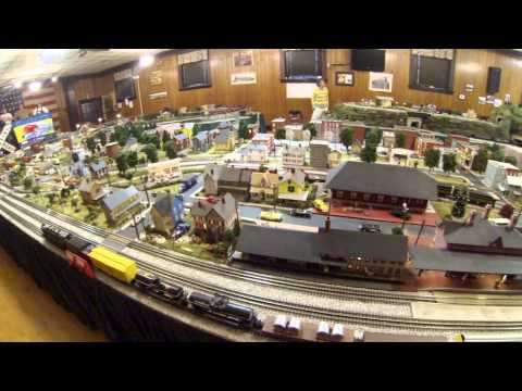Milton, Pa. model train display