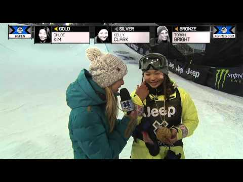 Chloe Kim wins gold in Women's Snowboard SuperPipe