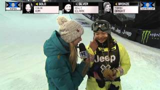 Chloe Kim wins gold in Women's Snowboard SuperPipe - Winter X Games