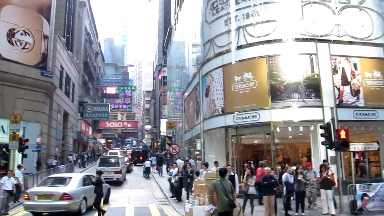 A Walk Along Queen S Road In Central Hong Kong Youtube
