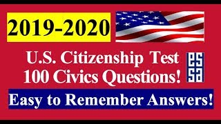 100 Civics Questions for the U.S. Citizenship Test - Easy Answers!