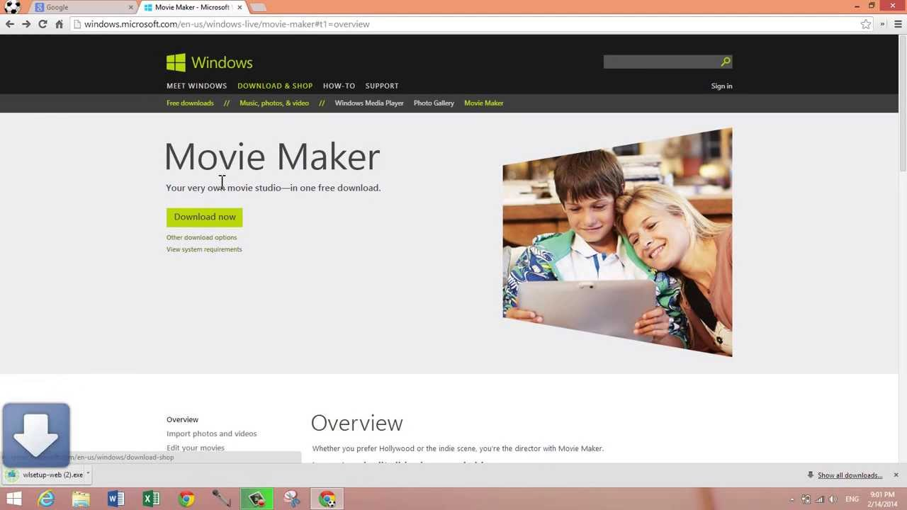 Microsoft Windows Movie Maker Windows 8.1