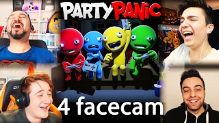 YOUTUBERLER PARTİDE! | 4 FACECAM PARTY PANIC