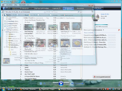 masterizzare dati o film su dvd con windows media player