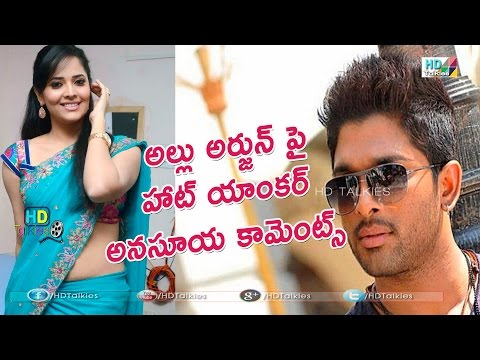 Anasuya gives clarity over comments on Allu Arjun Photo Image Pic