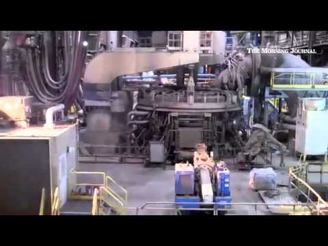 Republic Steel's electric arc furnace operates on May 5, 2014. Republic announces 1,000th heat on No