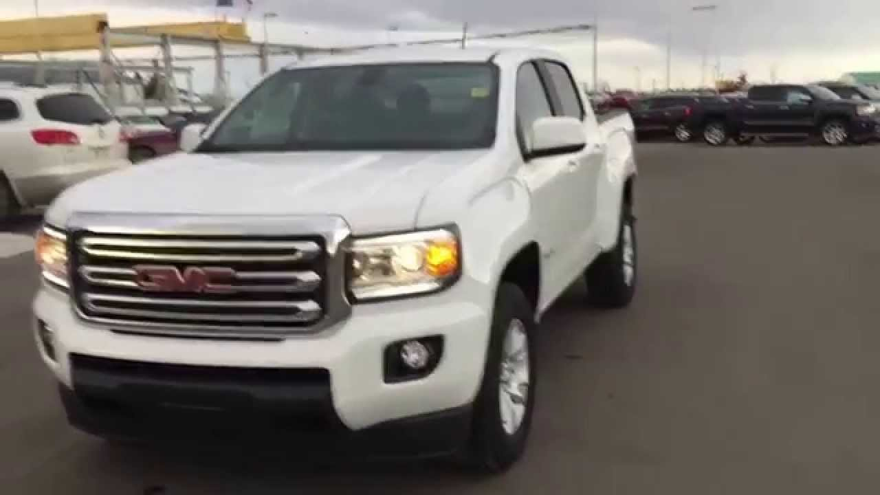 White 2015 gmc canyon sle 4wd crew cab swb at scougall