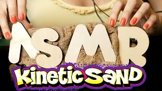 ASMR Kinetic Sand No Talking Binaural, Hose, Cookie Cutter, Cutting Close Up