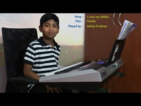 I Love My India On Keyboard   Balu video