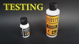 Thin and Airbrush Acrylics: Mission Models Primer Testing