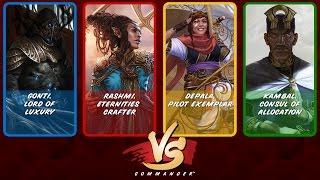 Commander VS S5E2: Gonti vs Rashmi vs Depala vs Kambal [MTG Multiplayer]