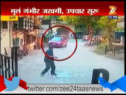 Thane Accident record on cctv camera