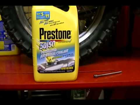 Motorcycle Repair: How to Replace the Motorcycle Coolant on a 2009 Kawasaki KLR 650