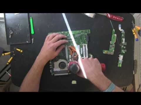 ACER Aspire 4720Z laptop take apart video. disassemble. how to open disassembly