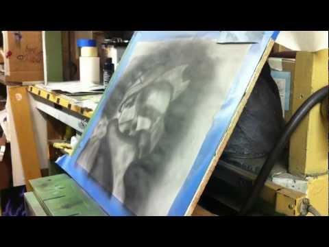 Airbrush speed painting - Halo Master Chief