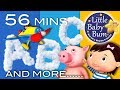 ABC Song | Plus Lots More Educational Nursery Rhymes | 56 Minutes Compilation from LittleBabyBum!