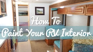 How To Paint Over RV Wallpaper || RV Living || Renovations & Repairs