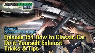 How to Classic Car Do it Yourself Exhaust Tricks and Tips JBA Mustang Episode 155 Autoresomod