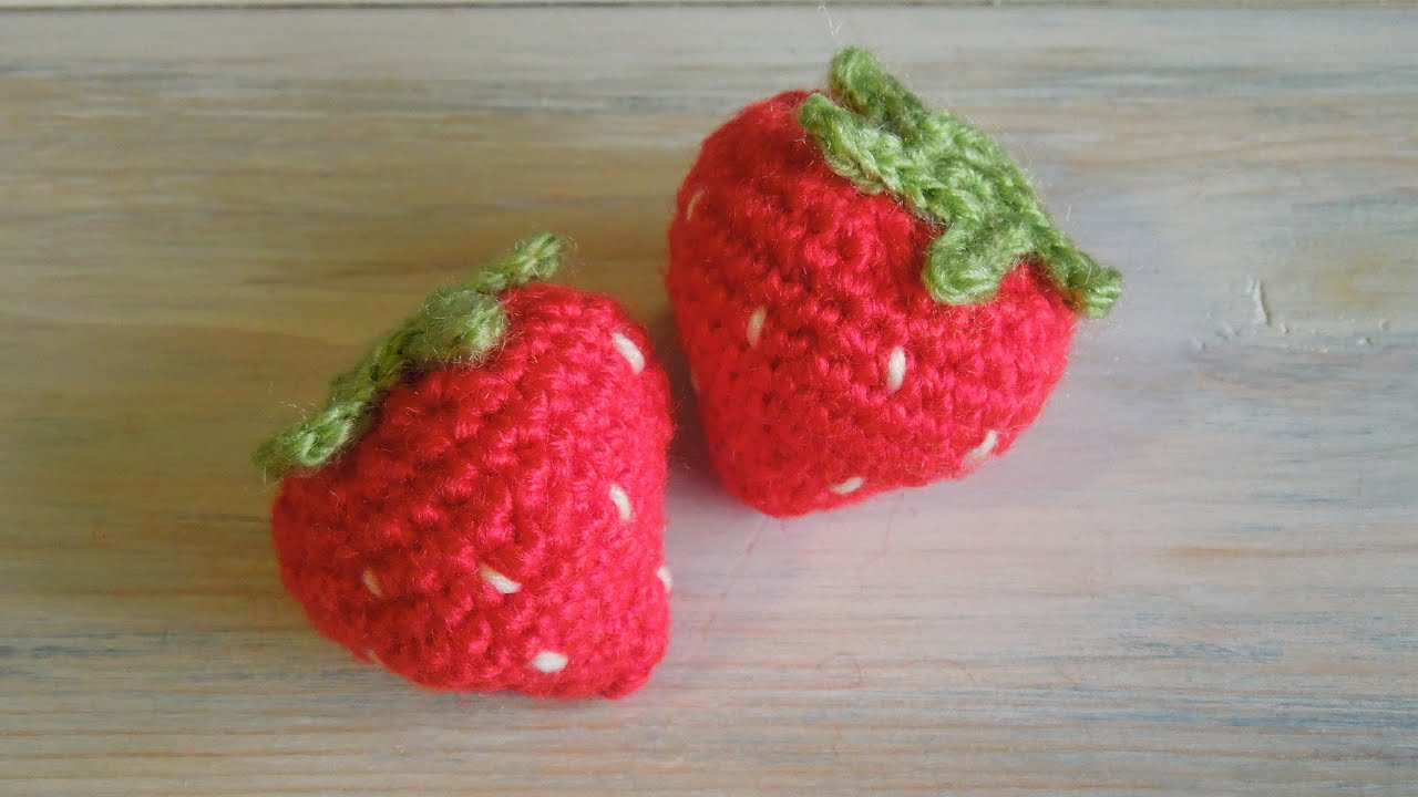 Crochet How To Crochet A Strawberry Youtube