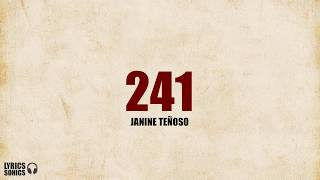 Janine Tenoso - 241 (Cover) Lyrics