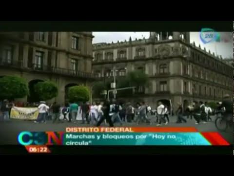 Marchas y bloqueos en el DF por el 'Hoy no circula' (VIDEO)