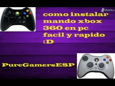 (2015)INSTALAR MANDO DE XBOX 360 EN PC WINDOWS 8!! RAPIDO Y SENCILLO!PureGamersESP