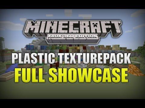 Minecraft (Xbox 360) NEW Plastic Texturepack Full Showcase (EARLY CODE)