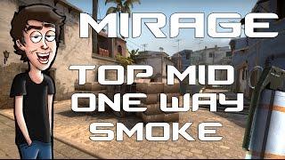CS:GO - Mirage Top Mid Oneway Smoke Tutorial