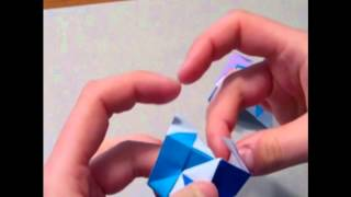 Modular Origami:  Sonobe Cube Hybrid (12 Units)