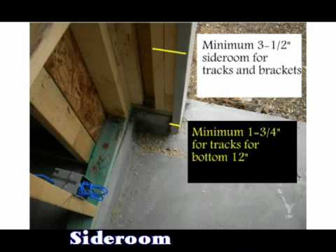 Measuring a new opening for garage door installation youtube for 12 foot garage door rough opening