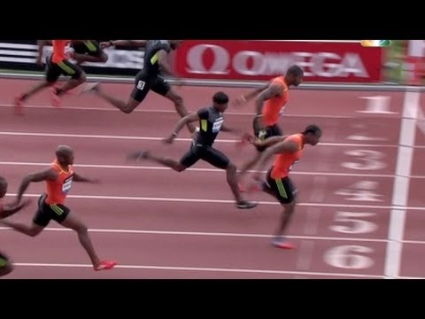 Yohan Blake wins Men&#039;s 100m at 2012 adidas Grand Prix