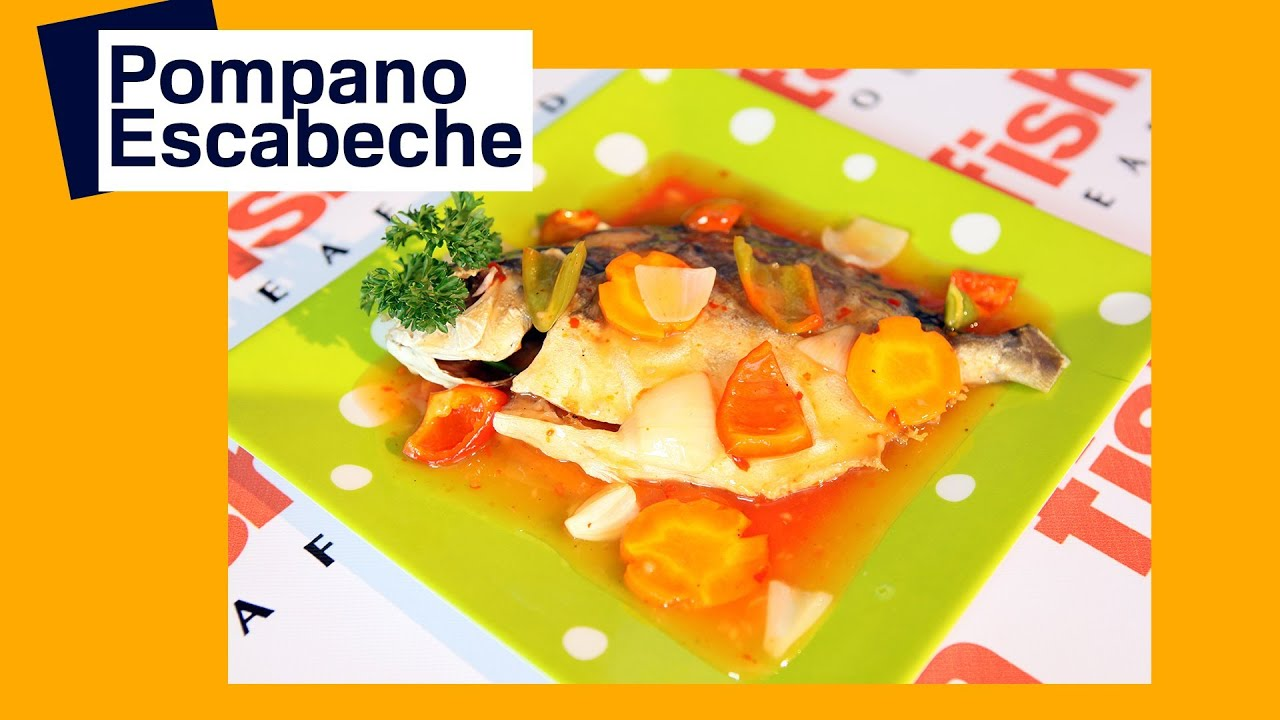 Escabeche pompano fish youtube for Pompano fish recipe