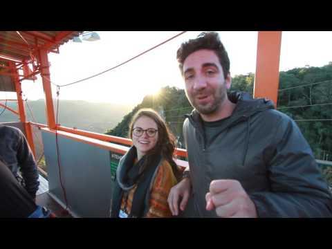 Equipe do GeraçãoE experimenta as atrações do Parque Gasper - e estagiário salta do bungee jump
